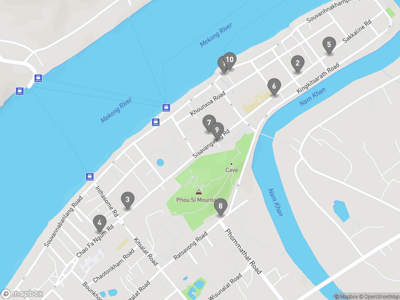 Map of eating options for Cafes and breakfast