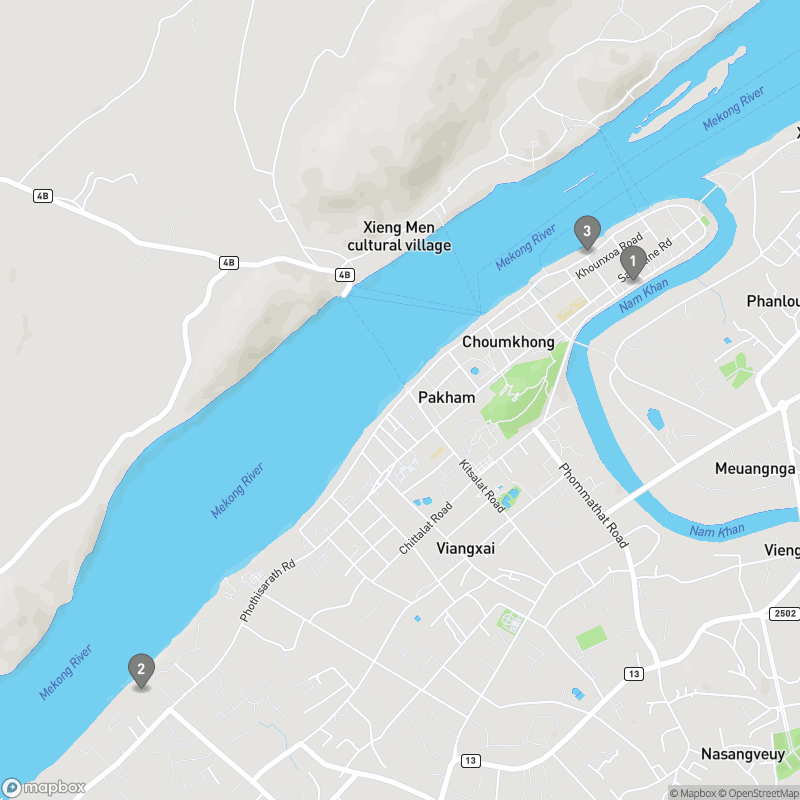Map of eating options for Riverside