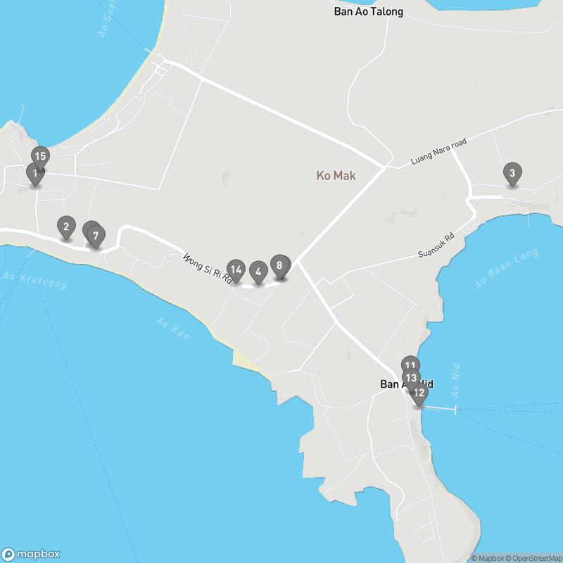 Map of eating options for Ko Maak