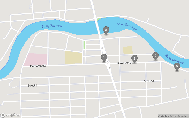 Map of eating options for Kompong Thom