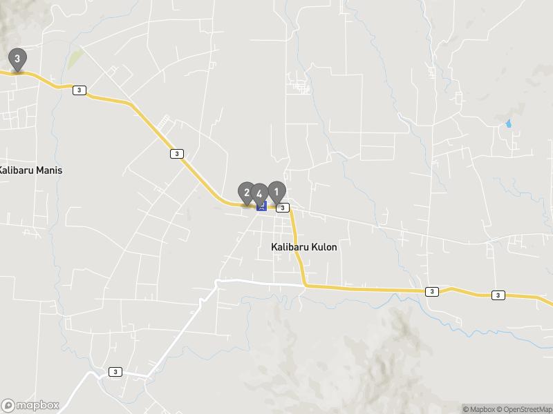 Map of eating options for Kalibaru
