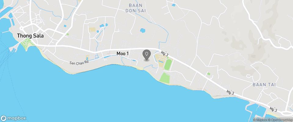 Map for Sabaii Bay Resort