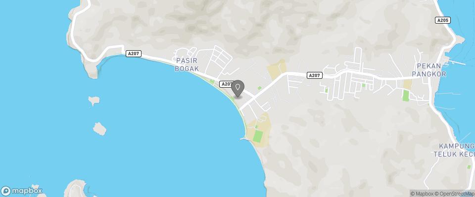 Map for Puteri Bayu Beach Resort