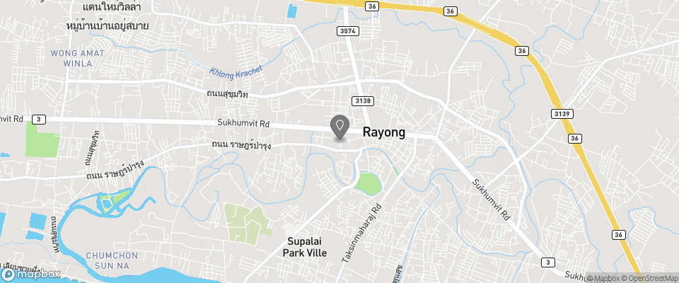 Map for Rayong President Hotel