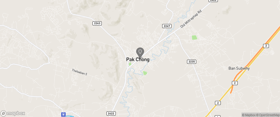 Map for Pak Chong Hotel