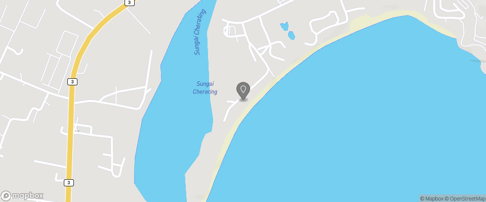 Map for Cherating Bayview Resort