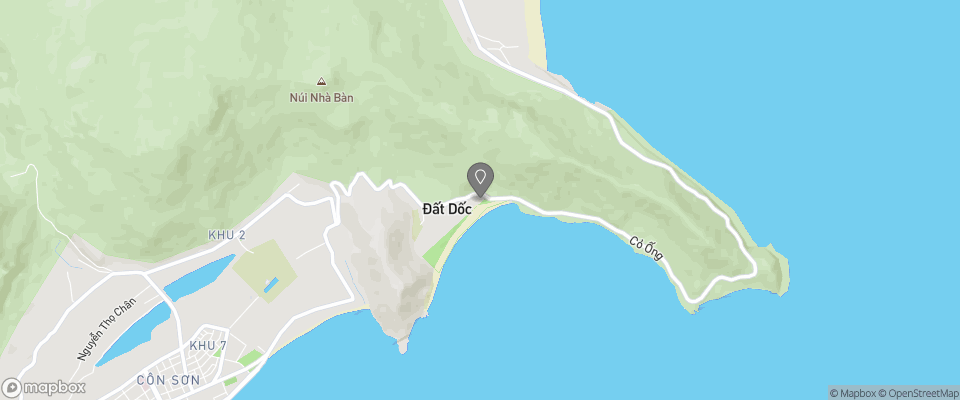 Map for Six Senses Con Dao Resort