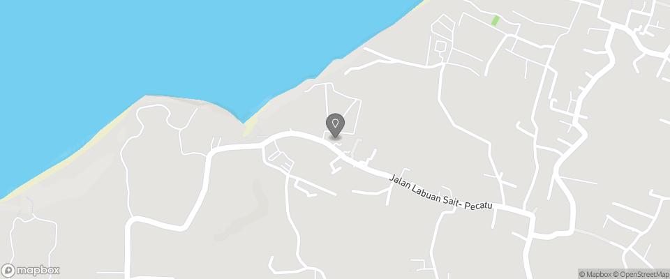 Map for Padang Padang Inn