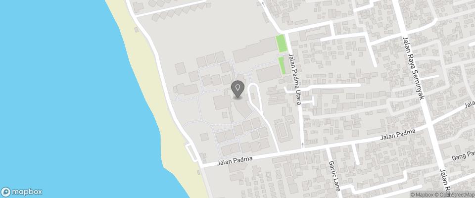 Map for Padma Resort Legian
