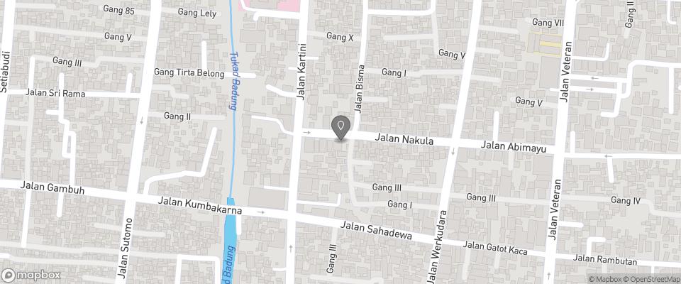 Map for Nakula Familiar Inn