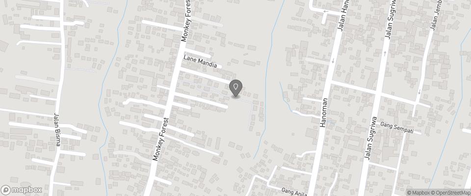 Map for Ubud Village Hotel