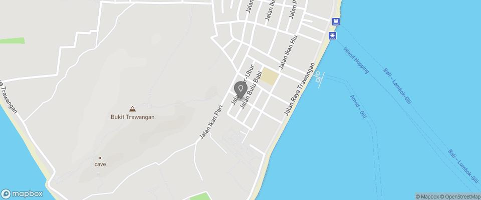 Map for Koi Gili
