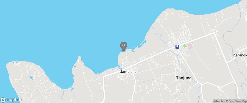 Map for Rinjani Beach Eco Resort