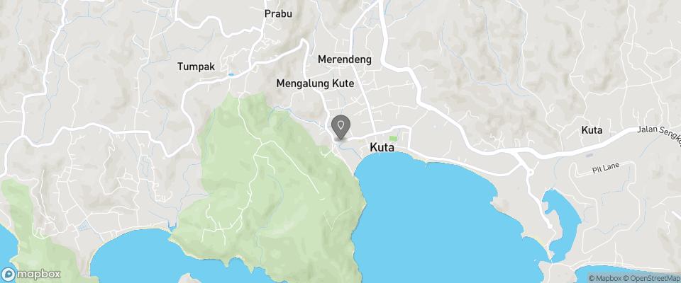 Map for Kuta Indah Hotel
