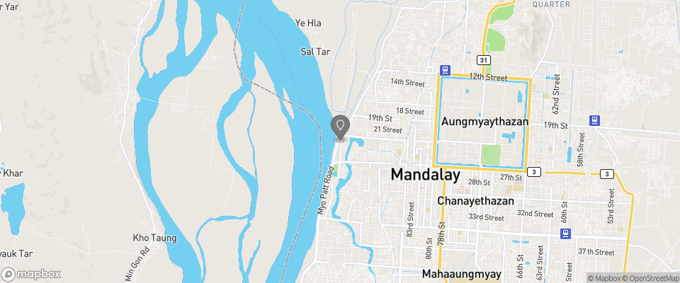 Map for Ayarwaddy River View Hotel