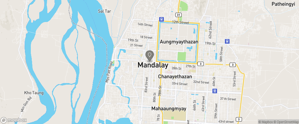 Map for Mandalay City Hotel