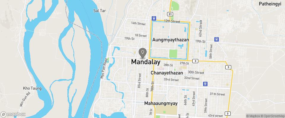 Map for Mandalay City Hotel