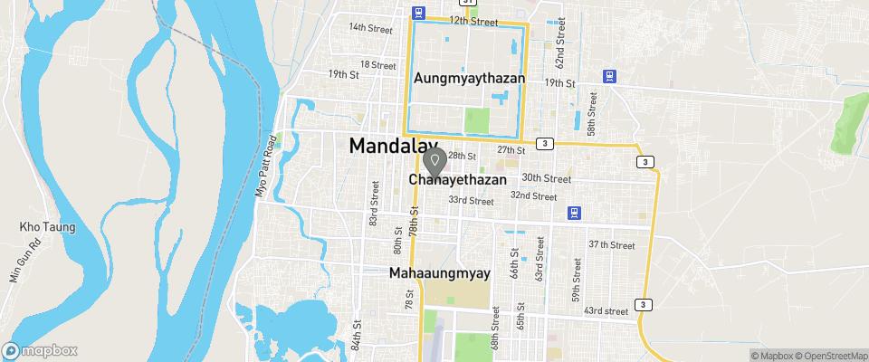 Map for Hotel Yadanarbon