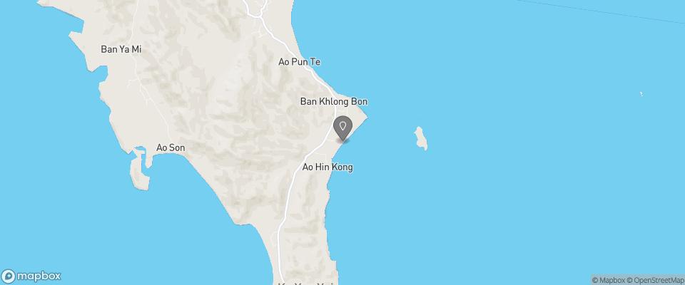 Map for Baan Taranya Koh Yao Yai Resort