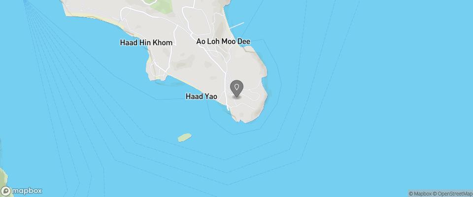 Map for Phi Phi Hill Resort