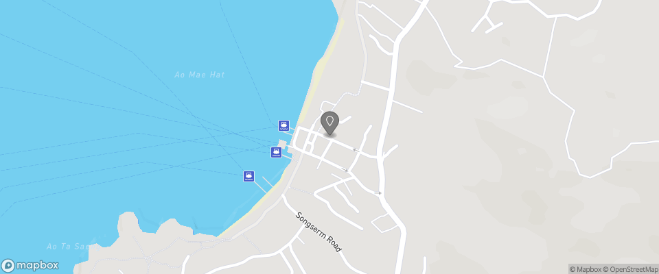 Map for Koh Tao Central Hostel