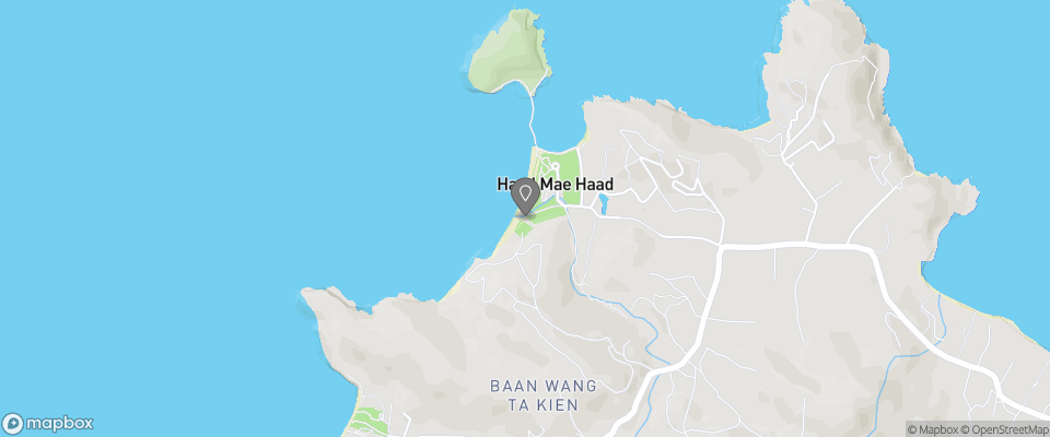 Map for Mae Haad Beach View Resort